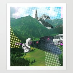 Experiment am Berg 10 Art Print