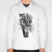 snow leopard Hoodies featuring Snow Leopard by pbnevins