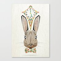 rabbit Canvas Prints featuring rabbit by Manoou