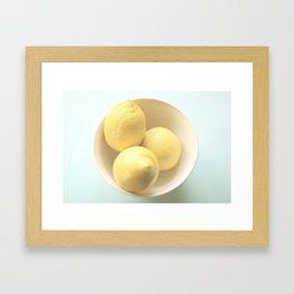 Lemons In a Bowl Framed Art Print