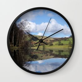 Ladybower reservoir Wall Clock