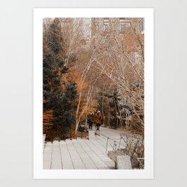 Travel Photography: New York City, Walking Under Trees Art Print