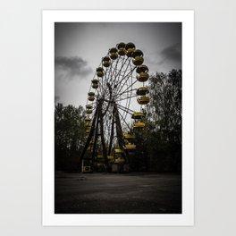 Pripyat Wheel Art Print