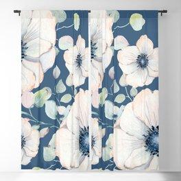 Summer Flowers Blue #society6 #buyart Blackout Curtain