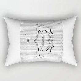Hound on the ice Rectangular Pillow