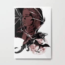 GOT Emilia Clarke Mother of Dragons Ice and Fire Metal Print