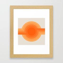 Sunspot -  Creamsicle Framed Art Print