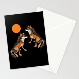 Iberian wolves and the sun (c) 2017 Stationery Cards