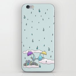 Rain drops keep falling on my head iPhone Skin