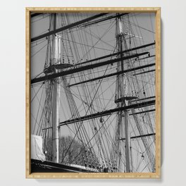 Masts and Rigging of the Cutty Sark Serving Tray