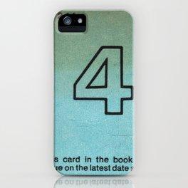Ilium Public Library Card No. 4 iPhone Case