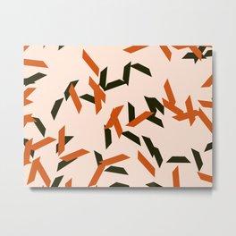 random trapezoids pattern_salmon Metal Print