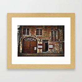 Old Cinema in Brugge, Belguim Framed Art Print