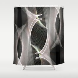 Abstract symmetry in flow of silence Shower Curtain