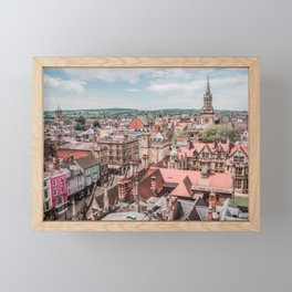 View of Oxford with Steeple | Europe UK City Architecture Landscape Photography Framed Mini Art Print