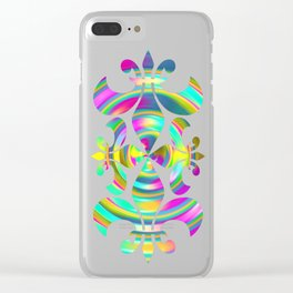 Pastel Swirl Clear iPhone Case