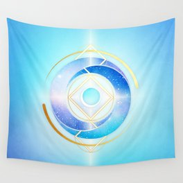 Floating Geometry :: Winter Swirl Wall Tapestry
