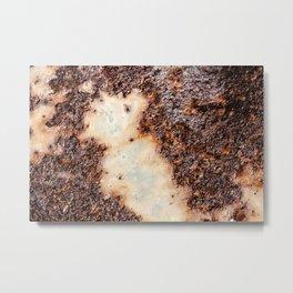 Cool brown rusty metal texture Metal Print