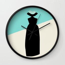 Fashion Designer Icons: Givenchy in Breakfast at Tiffany's Wall Clock