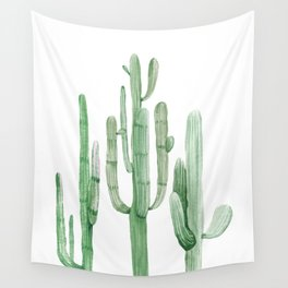 Three Amigos White + Green by Nature Magick Wall Tapestry
