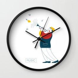 Trumpeter Wall Clock