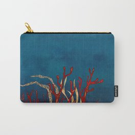 Red Coral and Gold Abstract 2 Carry-All Pouch