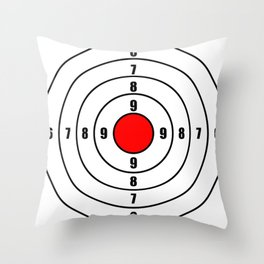 Black oval target Throw Pillow