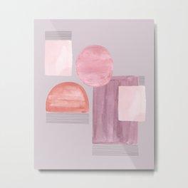 Mid-Century Pink Metal Print