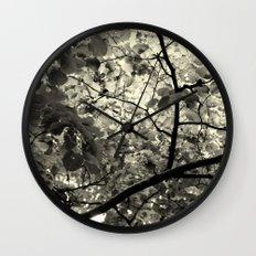 Monochrome Leaf's  Wall Clock