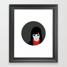 Black Eyed Kid Framed Art Print
