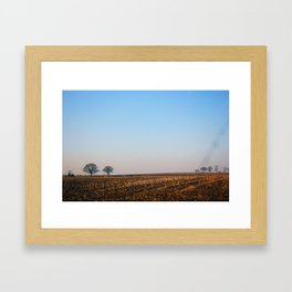 Winter Field  Framed Art Print