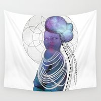 cosmos Wall Tapestries featuring COSMOS  by KAZILLA