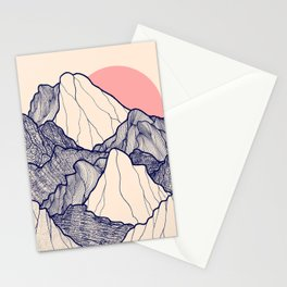 The calm morning mountains Stationery Cards