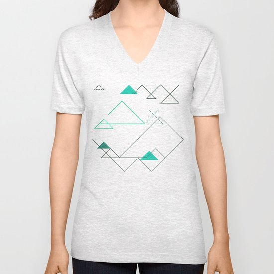 Tree Angle Green Unisex V-Neck