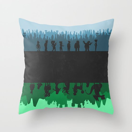 Futurama - Bender's Game Throw Pillow