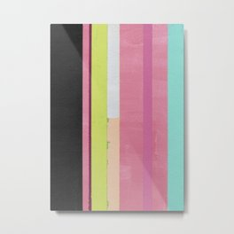 Retro Color Stripes By Hand Painting / Ver.1 Metal Print