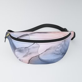 Dreamscape 2 - navy blue and blush pink abstract Fanny Pack