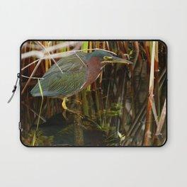 Beautiful Green Heron Laptop Sleeve