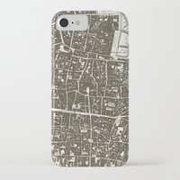 london map iPhone & iPod Cases featuring London Map by Zeke Tucker