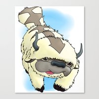 appa Canvas Prints featuring Appa by Kurew Kreations