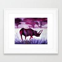 kevin russ Framed Art Prints featuring Russ by Brittni Jones