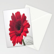 Red Gerbera I [Untextured] Stationery Cards