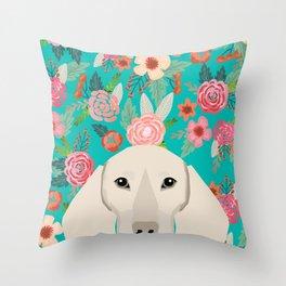 Dachshund florals flower pet portrait dog art dachsie doxie pet art dog breeds Throw Pillow