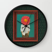 the perks of being a wallflower Wall Clocks featuring Wallflower by Lindsay Beach