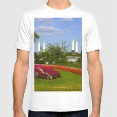 Battersea Power Station and Battersea Park Mens Fitted Tee MEDIUM White