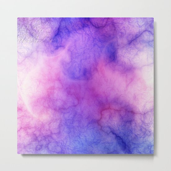 Pink Cloud Marble Metal Print