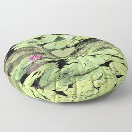 Floating Lily Pads Floor Pillow