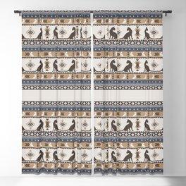 Boho cats   Oriental shorthair tan Blackout Curtain