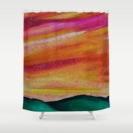 Peach Skyscape Shower Curtain