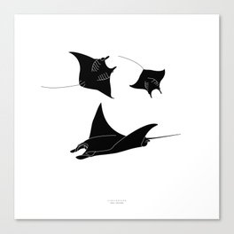 DJÆVLEROKKE - black Canvas Print